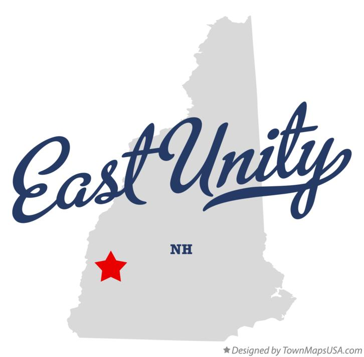 Map of East Unity New Hampshire NH