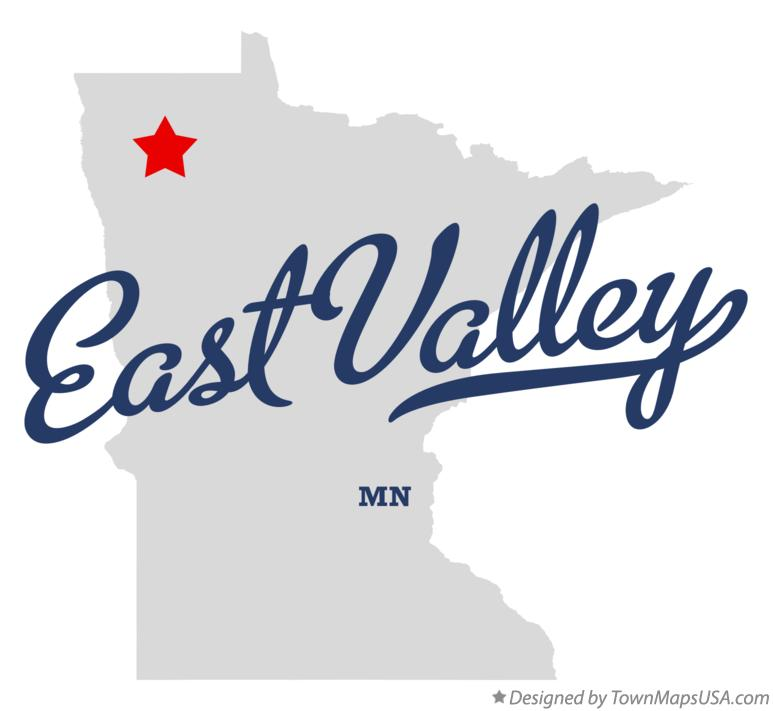 Map of East Valley Minnesota MN