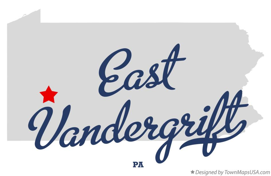 Map of East Vandergrift Pennsylvania PA
