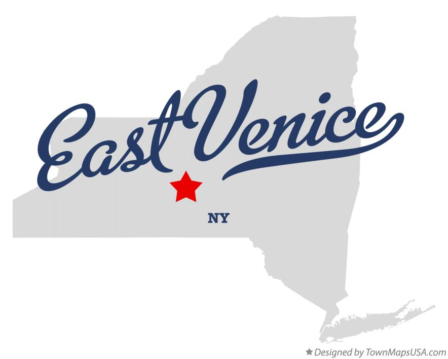 Map of East Venice New York NY