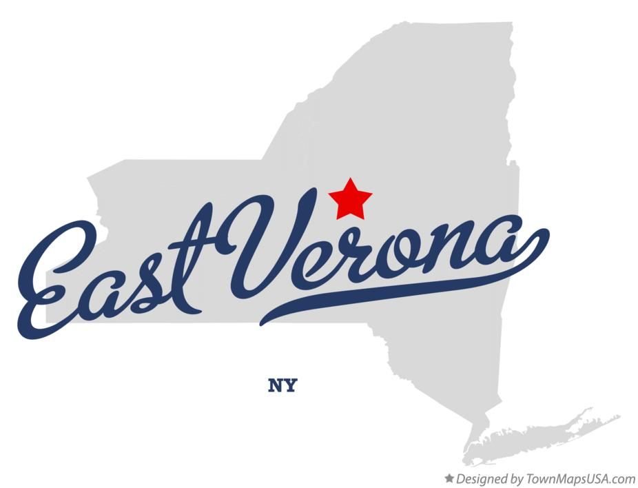 Map of East Verona New York NY