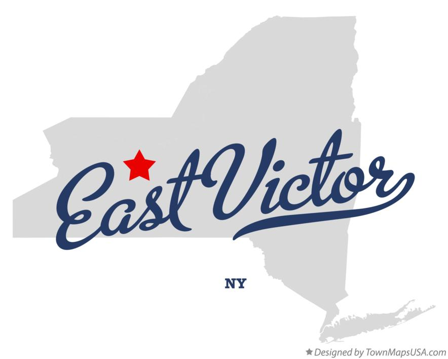 Map of East Victor New York NY
