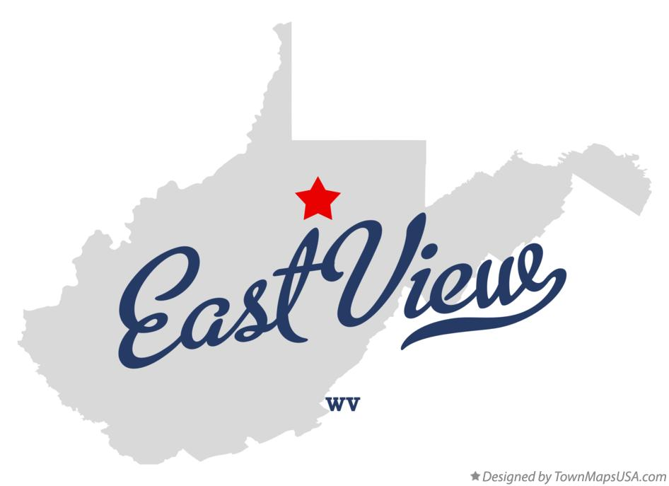 Map of East View West Virginia WV