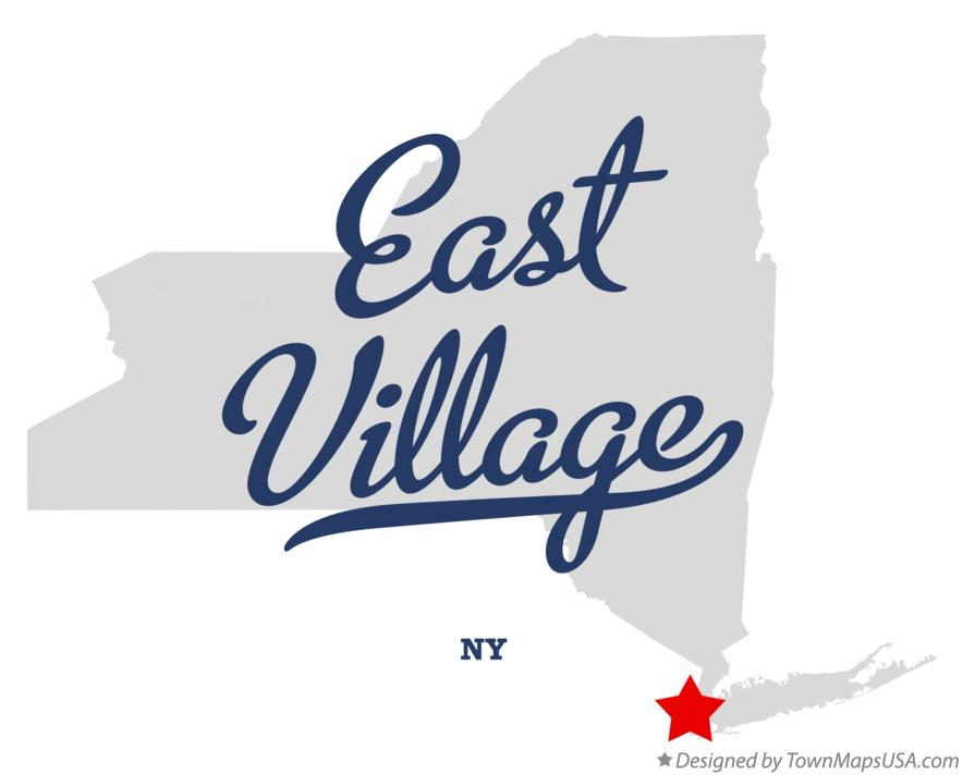 Map of East Village New York NY