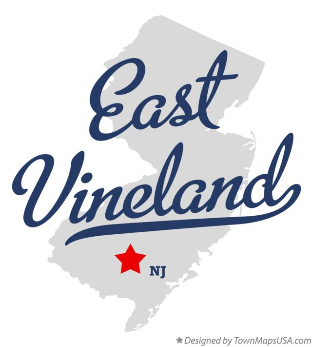 Map of East Vineland New Jersey NJ