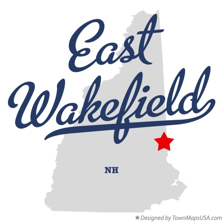 Map of East Wakefield New Hampshire NH
