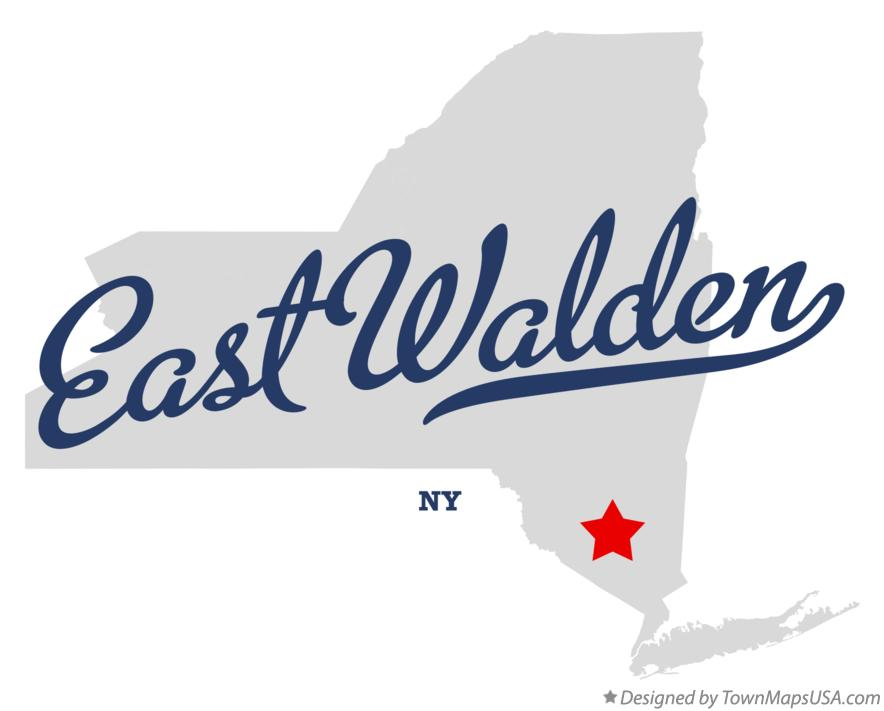 Map of East Walden New York NY