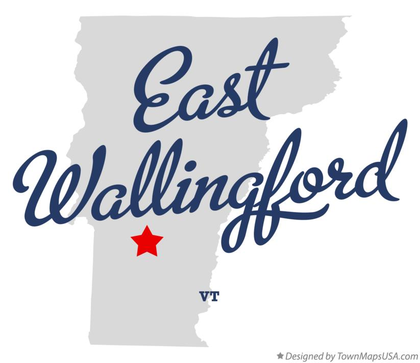 Map of East Wallingford Vermont VT