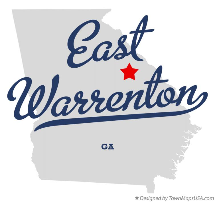 Map of East Warrenton Georgia GA