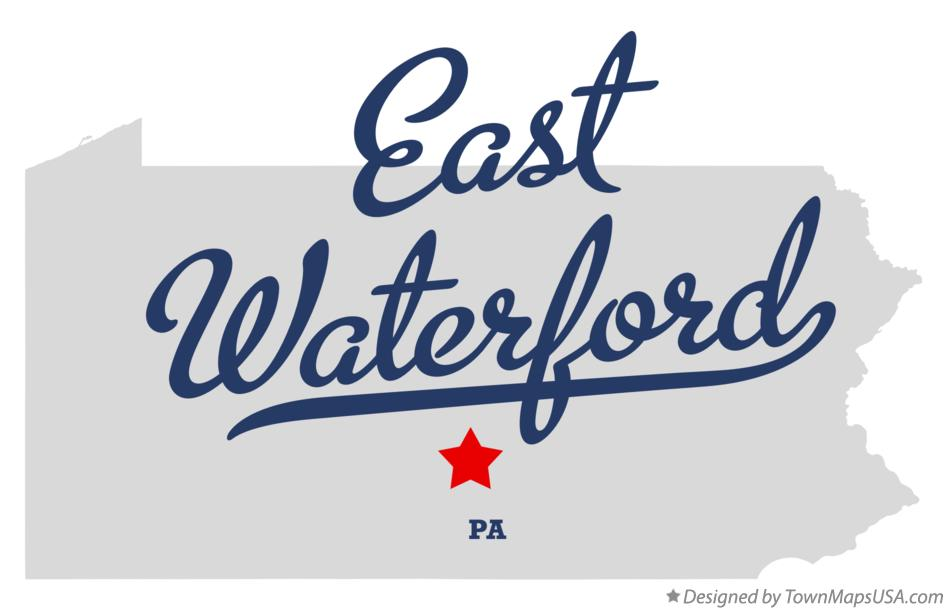Map of East Waterford Pennsylvania PA