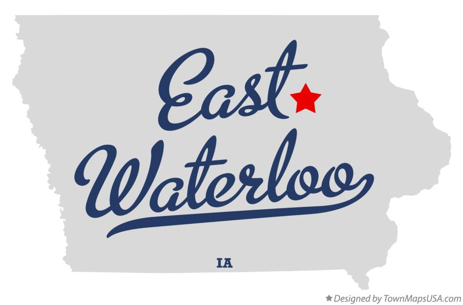 Map of East Waterloo Iowa IA