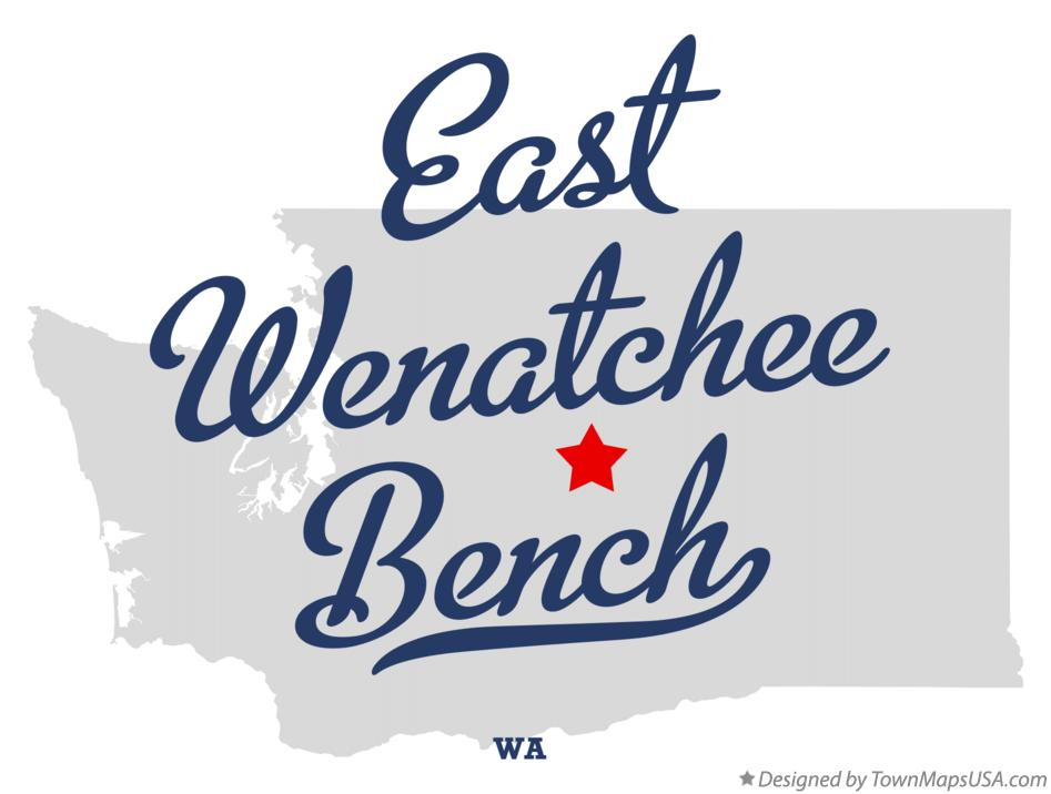 Map of East Wenatchee Bench Washington WA