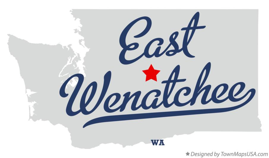 Map of East Wenatchee Washington WA