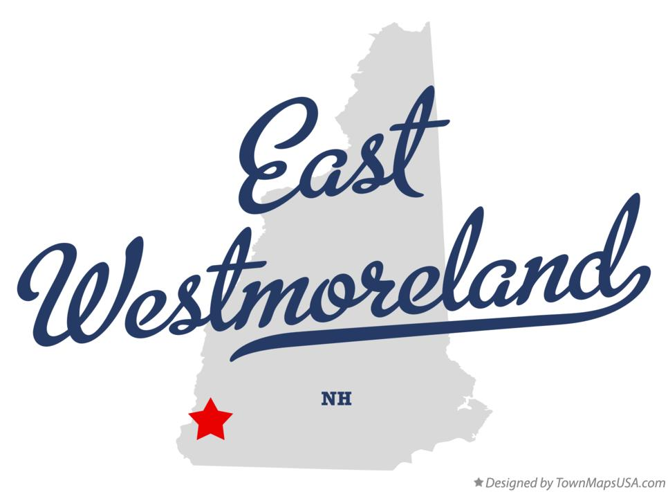 Map of East Westmoreland New Hampshire NH