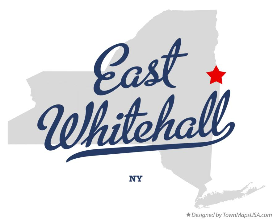 Map of East Whitehall New York NY