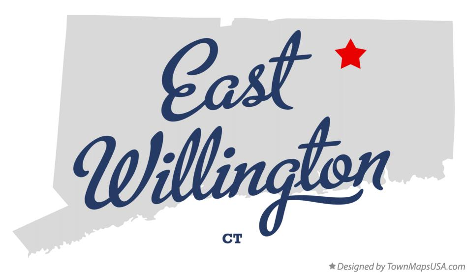 Map of East Willington Connecticut CT