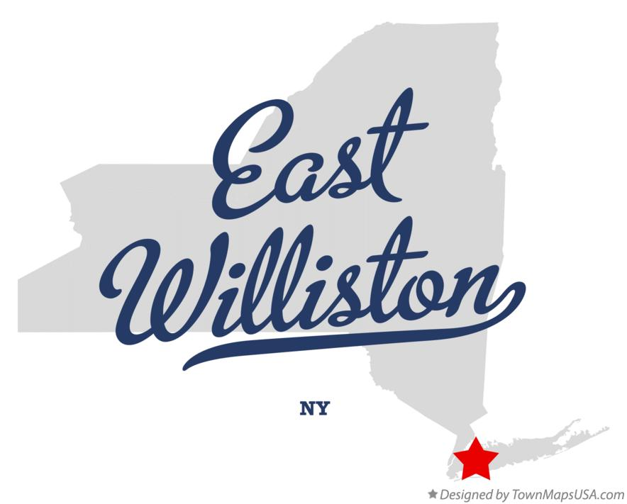 Map of East Williston New York NY