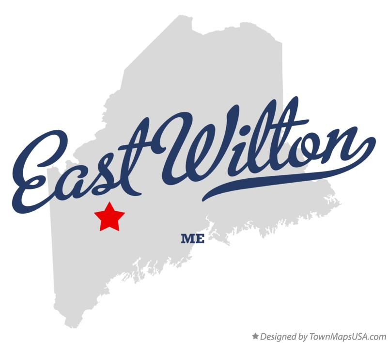 Map of East Wilton Maine ME