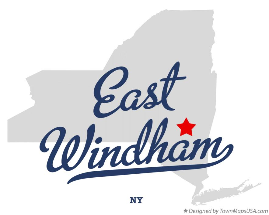 Map of East Windham New York NY