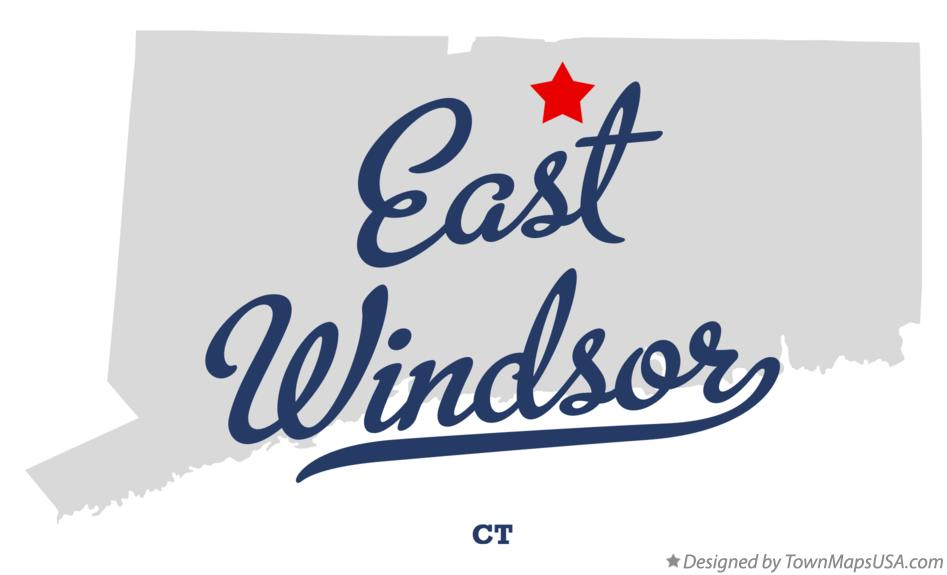 Map of East Windsor Connecticut CT