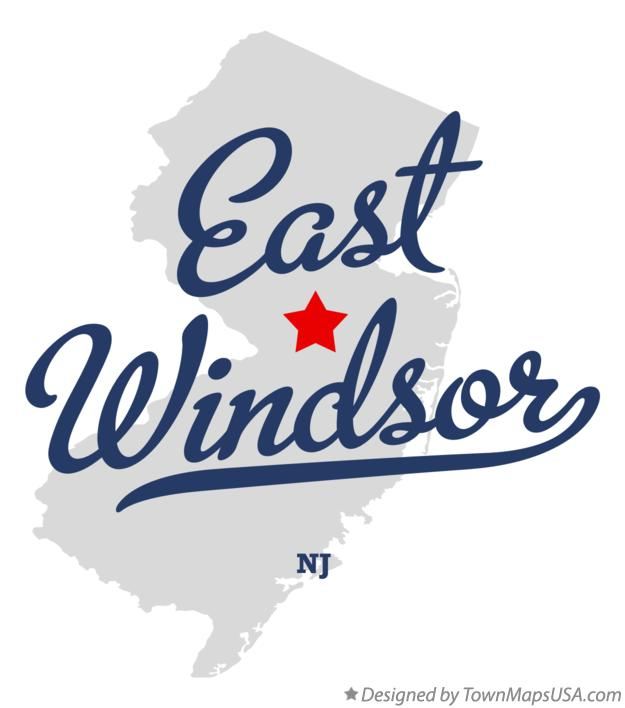 Map of East Windsor New Jersey NJ