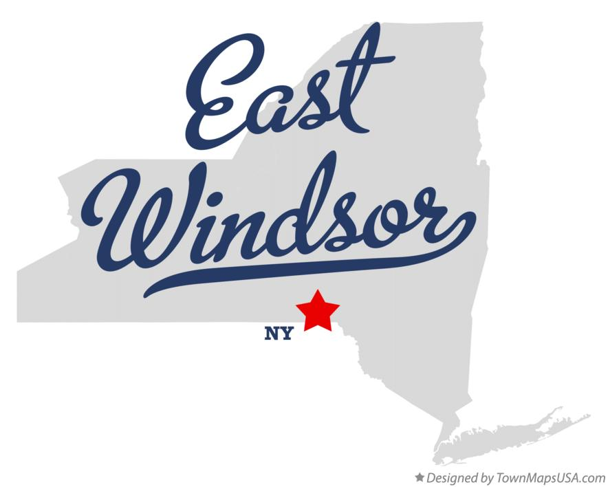 Map of East Windsor New York NY