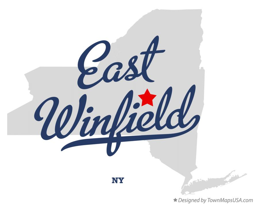 Map of East Winfield New York NY