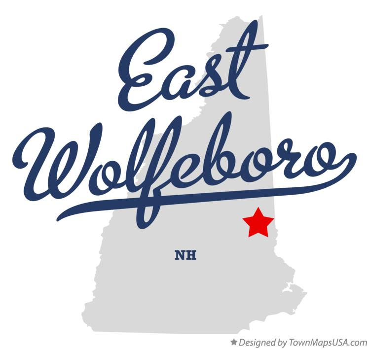 Map of East Wolfeboro New Hampshire NH