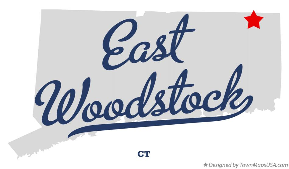 Map of East Woodstock Connecticut CT