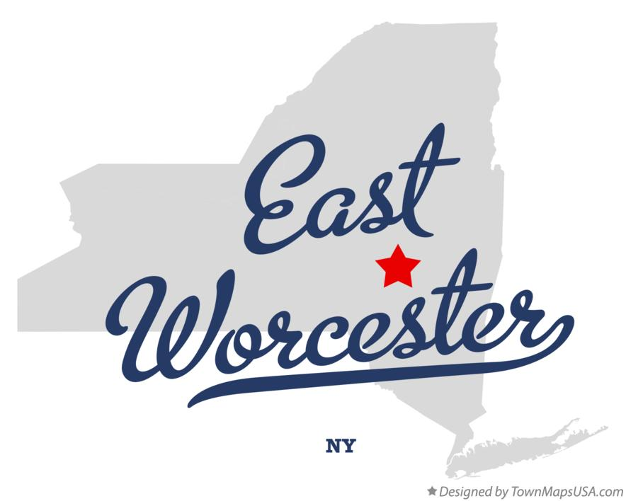 Map of East Worcester New York NY