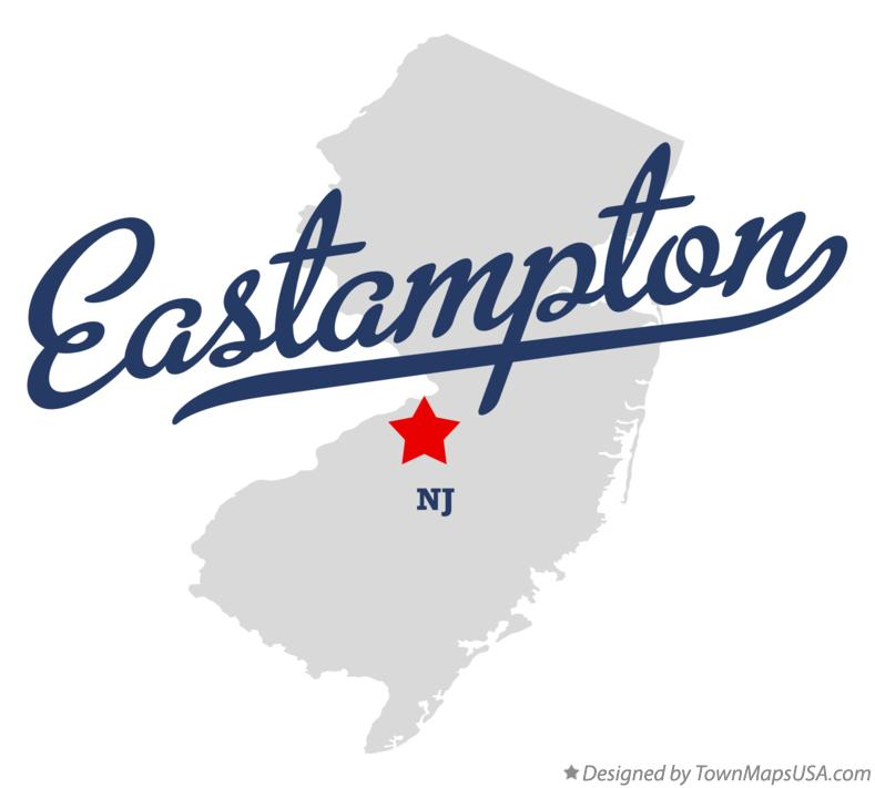 Map of Eastampton New Jersey NJ