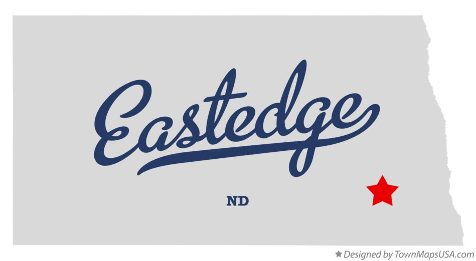 Map of Eastedge North Dakota ND