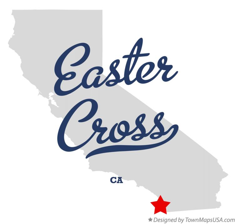 Map of Easter Cross California CA