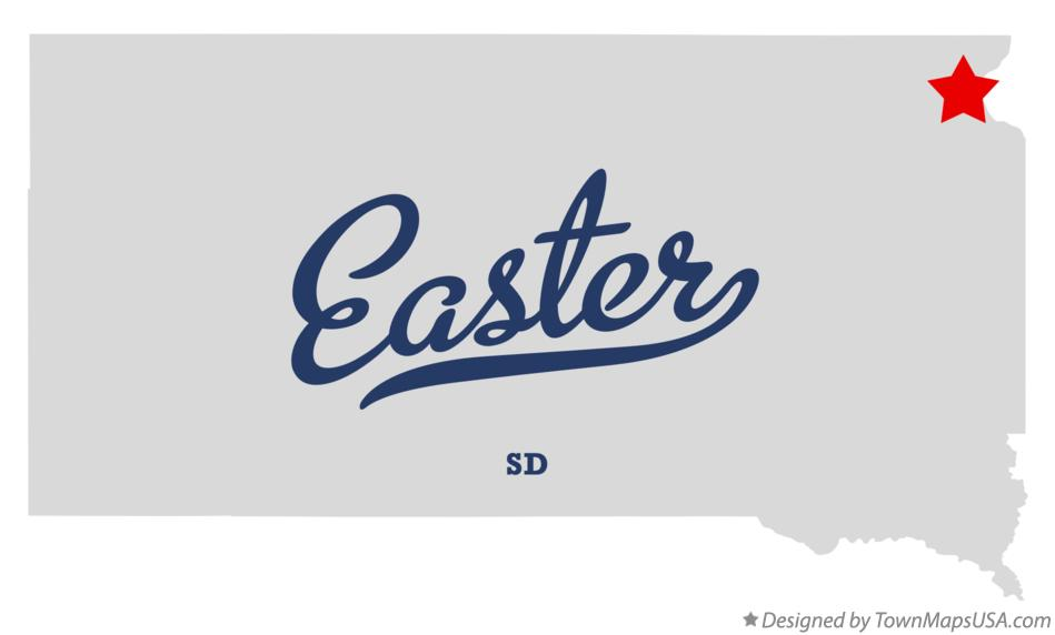 Map of Easter South Dakota SD