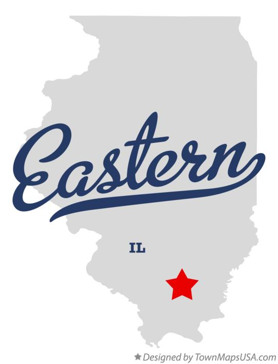 Map of Eastern Illinois IL