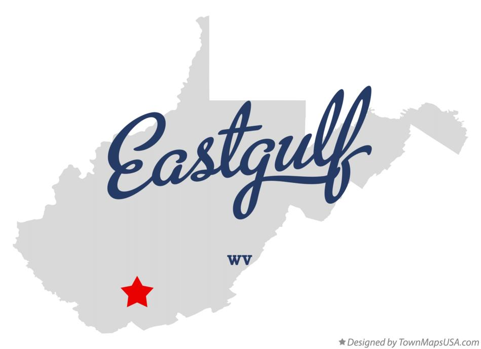 Map of Eastgulf West Virginia WV