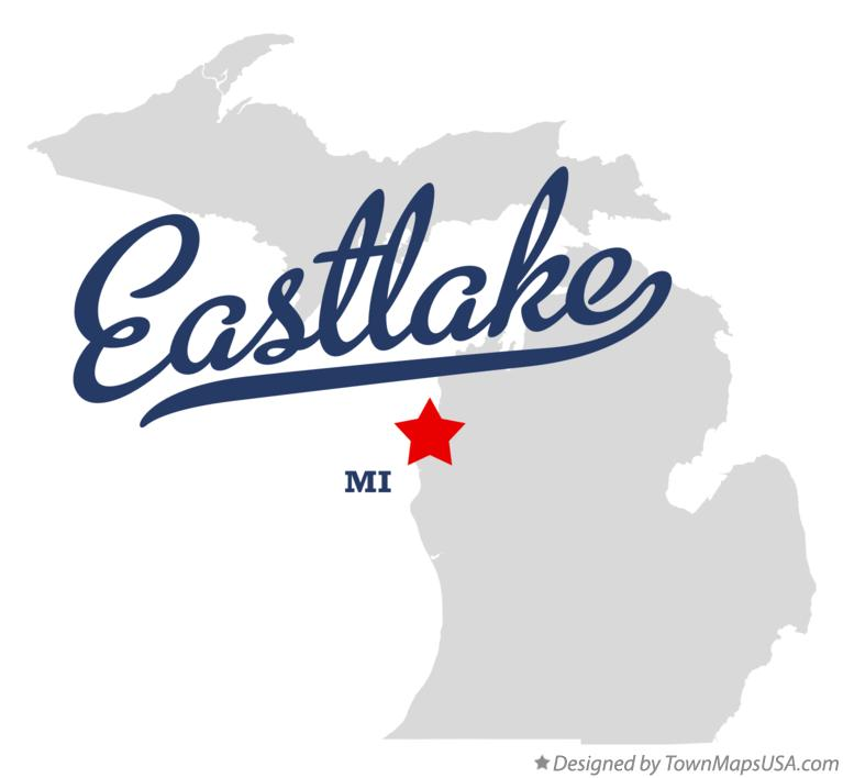 Map of Eastlake Michigan MI