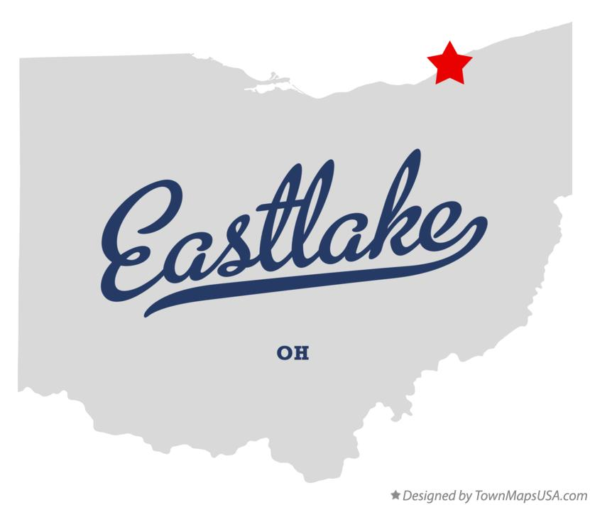 Map of Eastlake Ohio OH