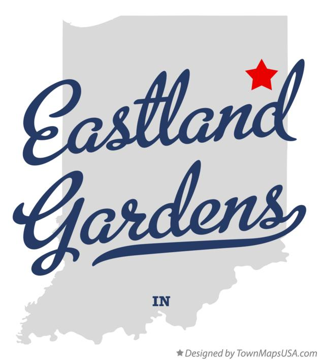 Map of Eastland Gardens Indiana IN