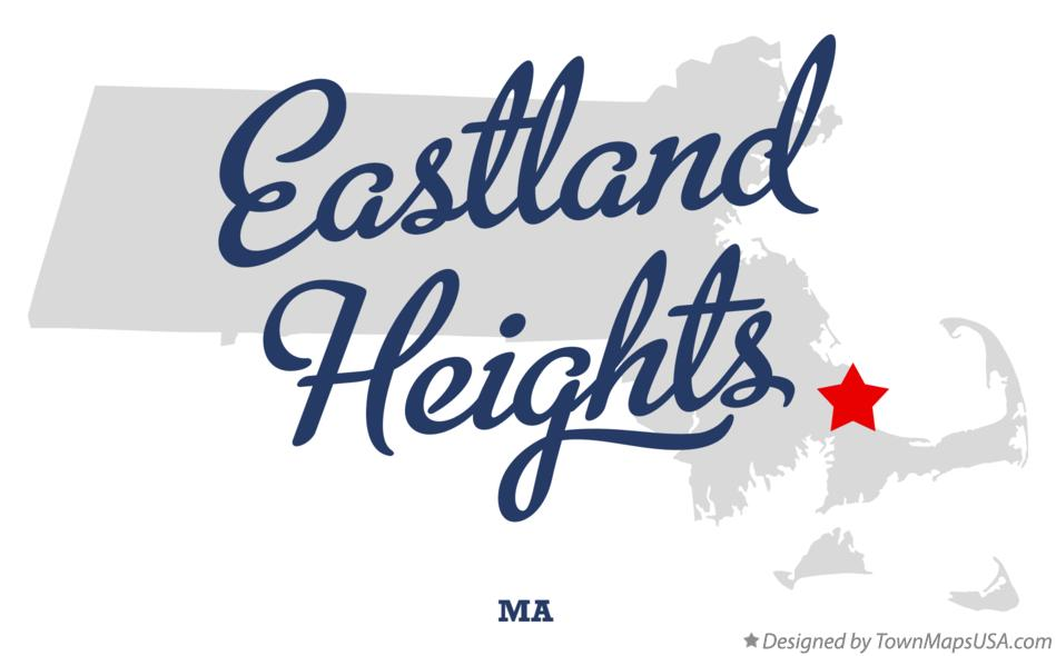 Map of Eastland Heights Massachusetts MA