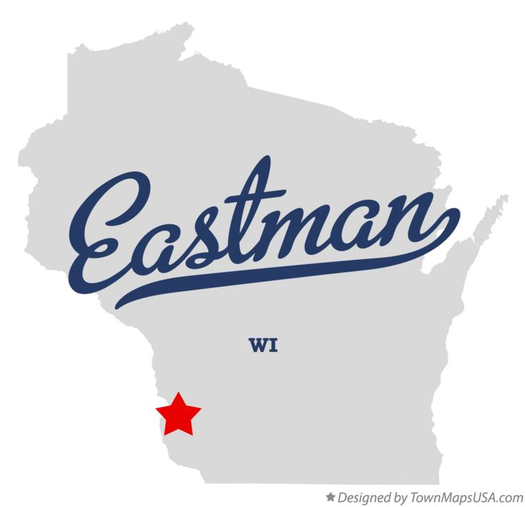 Map of Eastman Wisconsin WI