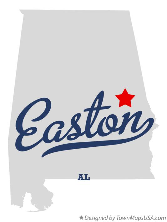 Map of Easton Alabama AL