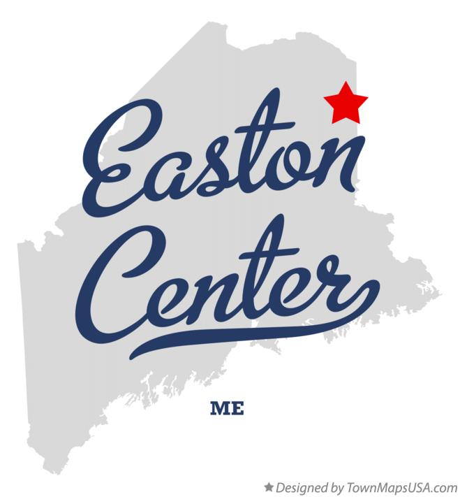 Map of Easton Center Maine ME