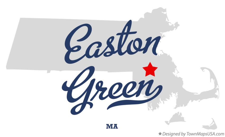 Map of Easton Green Massachusetts MA