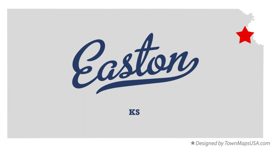 Map of Easton Kansas KS