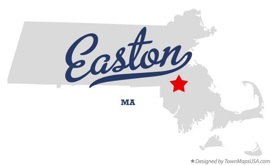 Map of Easton Massachusetts MA