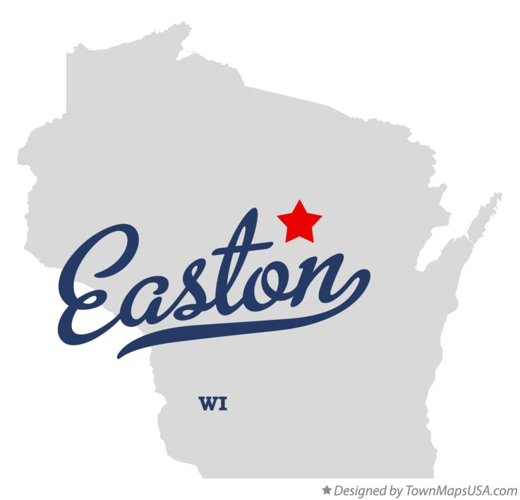 Map of Easton Wisconsin WI