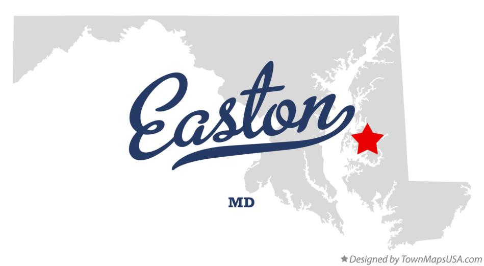 Map of Easton Maryland MD