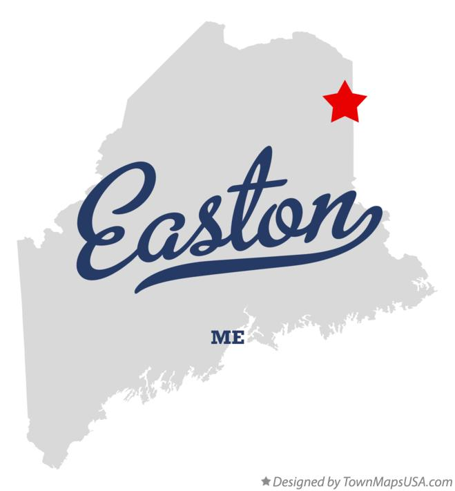 Map of Easton Maine ME