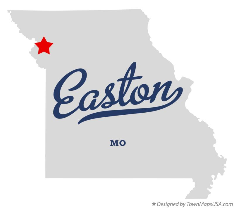 Map of Easton Missouri MO